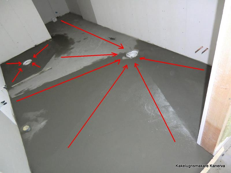 gjuta fall med betong