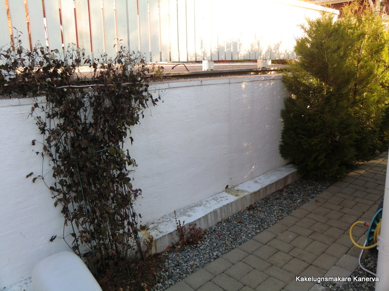 putsa mur utomhus